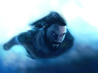 Cool Aquaman DC FanArt wallpaper