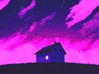 Cool Lonely House Art wallpaper