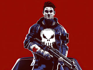 Cool Punisher Minimalist wallpaper