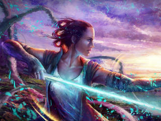 Cool Star Wars Rey wallpaper