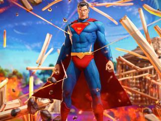 Cool Superman Fortnite Epic wallpaper
