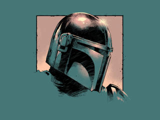 Cool The Mandalorian Art wallpaper