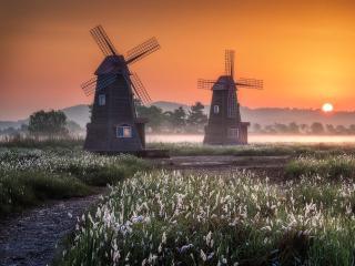Cool Windmill HD wallpaper
