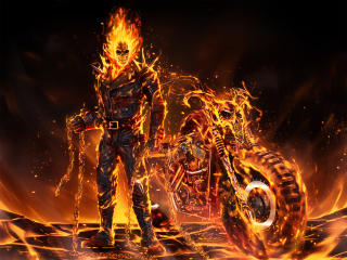 Coolest Ghost Rider 2020 Art wallpaper