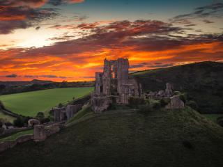 Corfe Castle England wallpaper