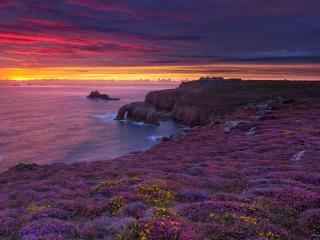 Cornwall Sunset wallpaper