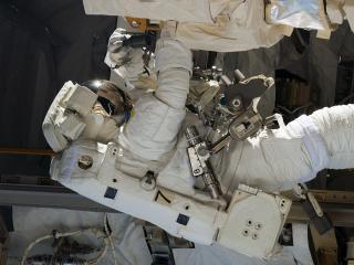 cosmonaut, survival suit, ship wallpaper