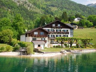cottage, austria, wolfgangsee wallpaper