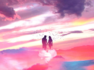 Couples In Heaven Art wallpaper