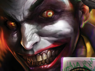 Crazy Joker DC Comic wallpaper