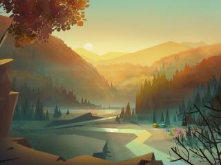 Creek Digital Art wallpaper
