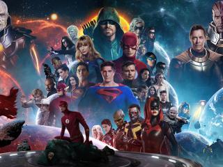 Crisis On Infinite Earths 4k wallpaper