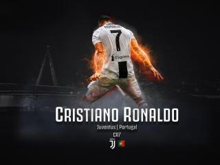 Cristiano Ronaldo Fire Art wallpaper