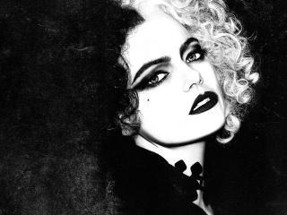 Cruella de Vil Emma Stone 4K wallpaper
