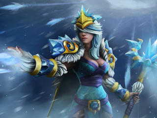 Crystal Maiden from DotA 2 wallpaper