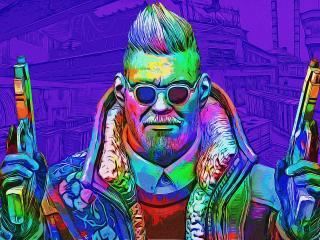 CS GO Toxic Purple Art wallpaper