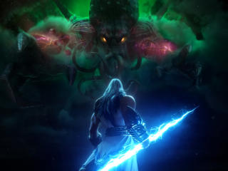 Cthulhu vs Zeus Smite wallpaper