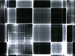 cube, black white, color wallpaper