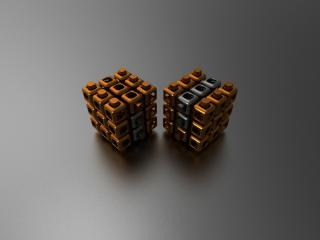 cube, couple, shape wallpaper