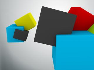 cubes, colorful, flight wallpaper