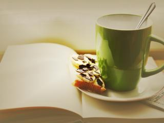 cup, sandwich, chocolate wallpaper