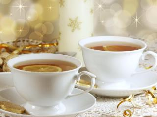 cups, tea, drink wallpaper