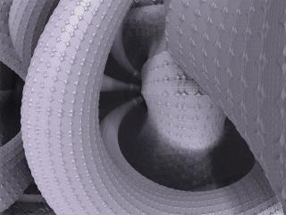 curve, futuristic, 3d wallpaper