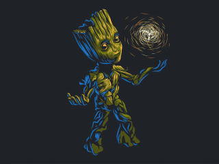 Cute Baby Groot 2020 wallpaper