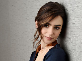 Cute Lily Collins 2017 wallpaper