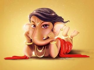 Cute Lord Ganesha wallpaper