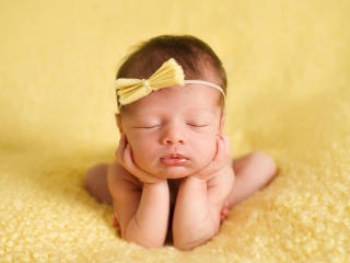 Cutest New Baby Sleeping wallpaper