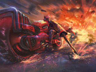 Cyber Fighters Artwork wallpaper