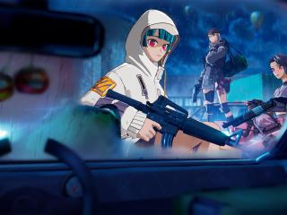 Cyber Infiltration Anime Fortnite wallpaper