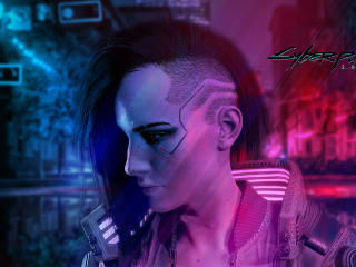 Cyberpunk 2077 Character Neon Lights wallpaper