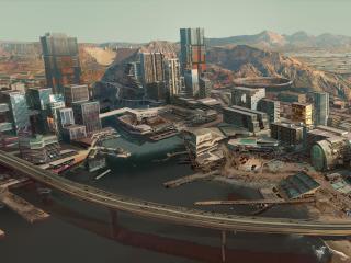 Cyberpunk 2077 City Concept Art 8K wallpaper