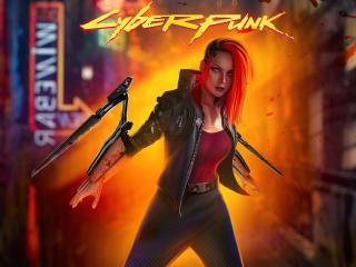 Cyberpunk 2077 Female Concept Art wallpaper