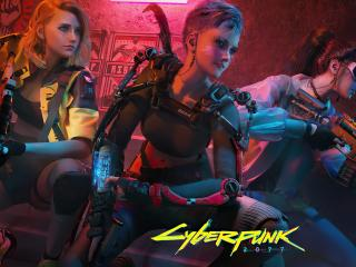 Cyberpunk 2077 Girl Team wallpaper