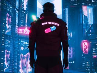 Cyberpunk 2077 Healthy Pill wallpaper