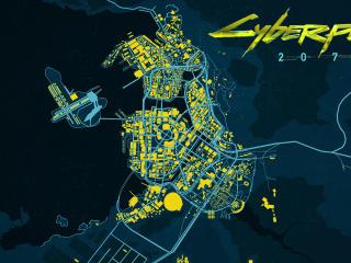 Cyberpunk 2077 Logo Night City wallpaper