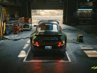 Cyberpunk 2077 Porsche 911 Turbo wallpaper