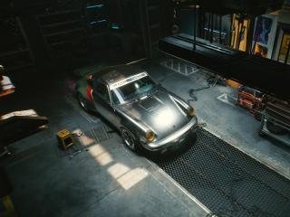Cyberpunk 2077 Porsche 911 wallpaper