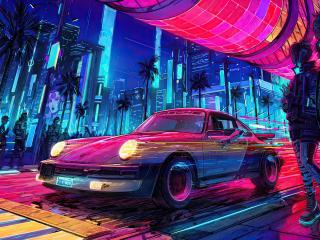 Cyberpunk 2077 Porsche Cool wallpaper