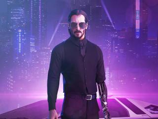 Cyberpunk 2077 x Keanu Reeves Fan Illustration wallpaper