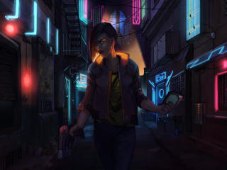 Cyberpunk 2077 Your Night City FanArt wallpaper