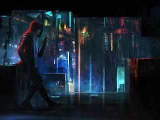 Cyberpunk Dagger Girl wallpaper
