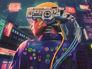 Cyberpunk Futuristic VR Girl wallpaper