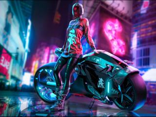 Cyberpunk Futuristic Woman wallpaper