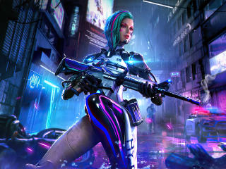 Cyberpunk Garena Free Fire wallpaper
