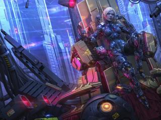 Cyberpunk Girl Beast wallpaper