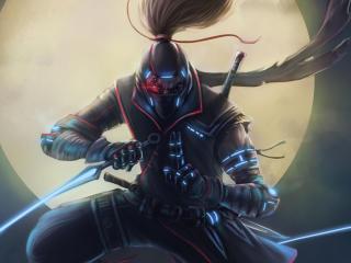 Cyberpunk Ninja Warrior wallpaper